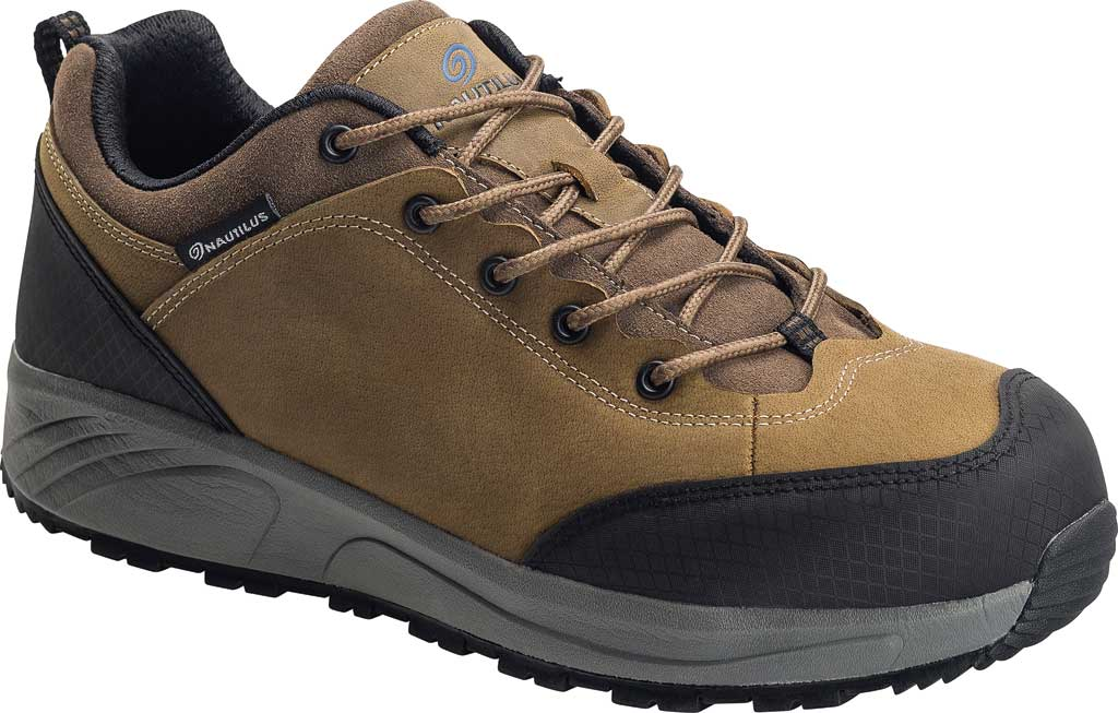Men's Nautilus N2514 Steel Toe Oxford Shoe, Brown Full-Grain Leather, large, image 1