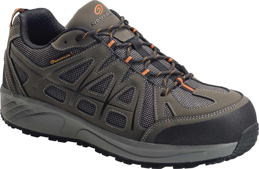Men's Nautilus N2502 Steel Toe Athletic Shoe, Grey Action Nubuck Leather/Mesh, large, image 1