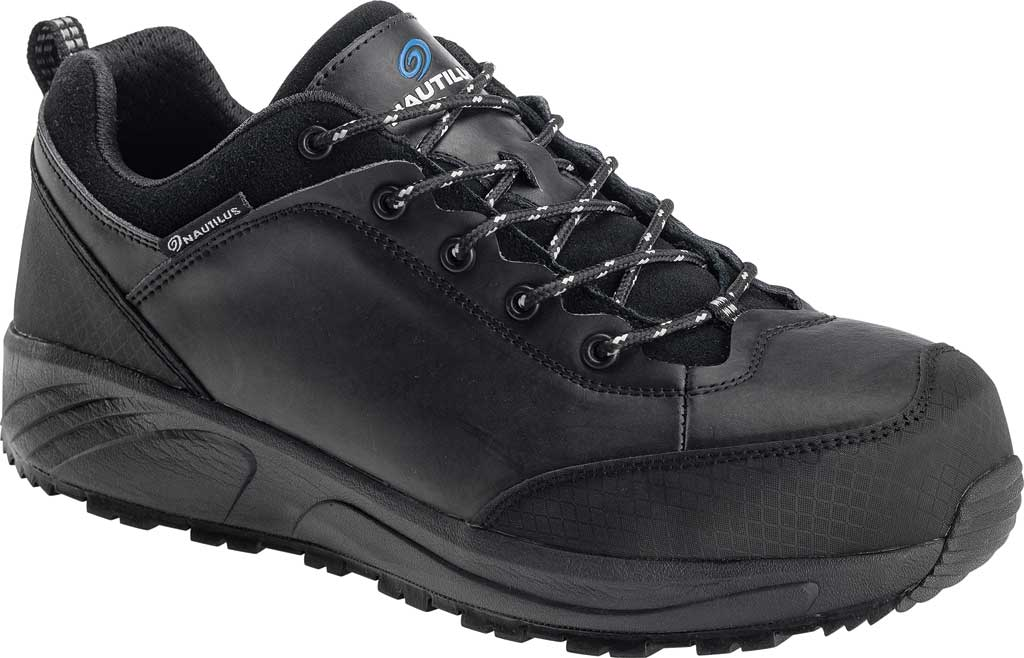 Men's Nautilus N2515 Steel Toe Oxford Shoe, Black Full-Grain Leather, large, image 1