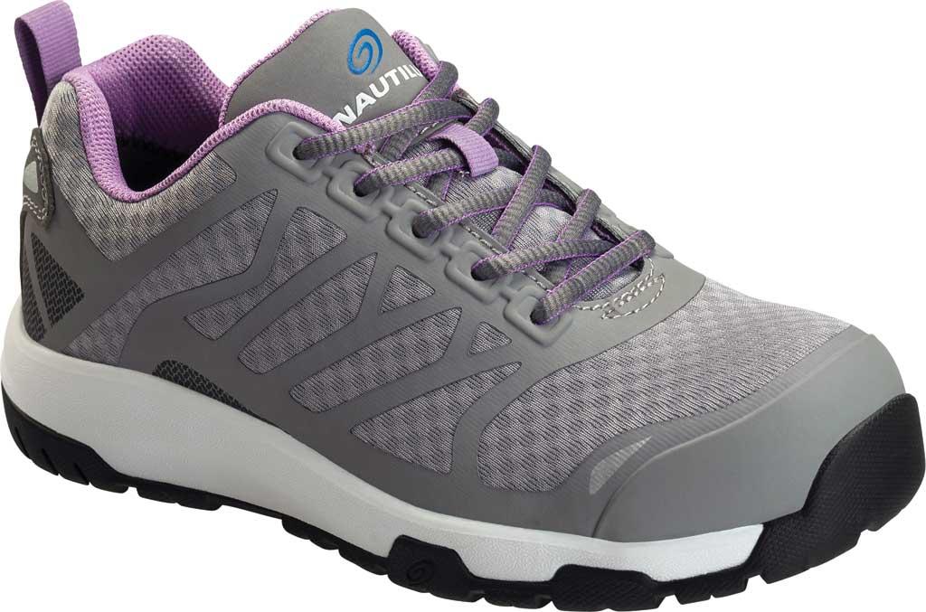 Women's Nautilus 2489 Velocity ESD Carbon Toe Work Shoe, Grey Mesh/Synthetic, large, image 1