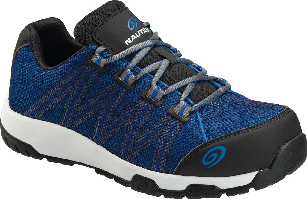 Men's Nautilus 1344 Accelerator ESD Carbon Toe Work Shoe, Blue/Black Textile, large, image 1