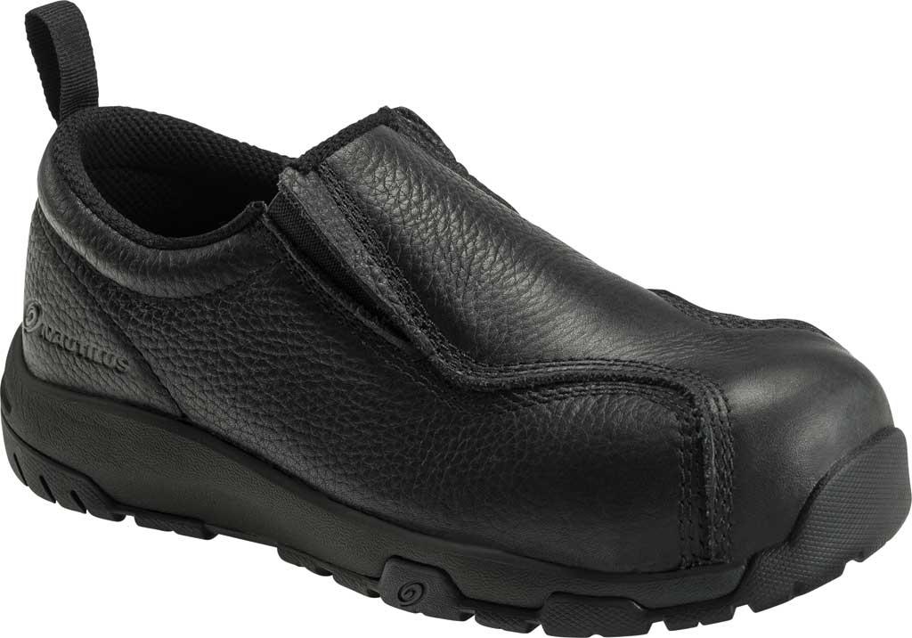 Men's Nautilus 1656 ESD Slip On Carbon Toe Work Shoe, Black Leather, large, image 1