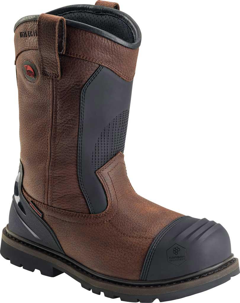 Men's Avenger A7896 Carbon Nanofiber Toe Met Wellington WP Boot, Brown Full Grain Leather, large, image 1