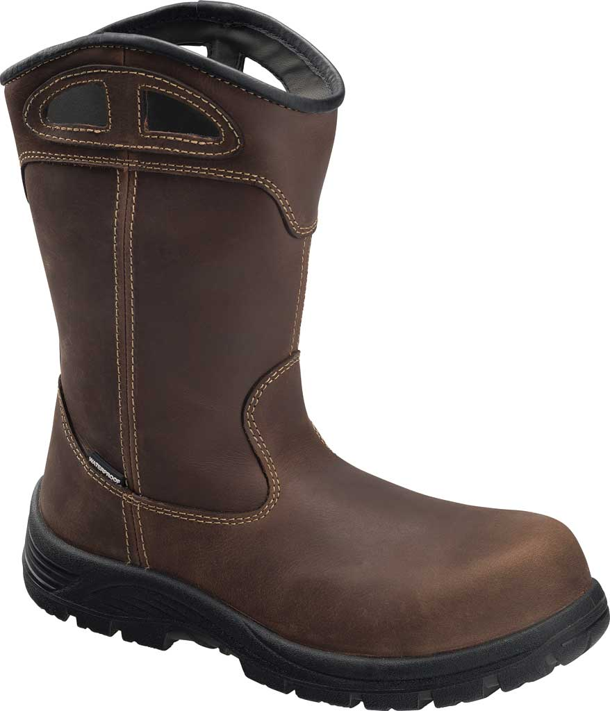 Men's Avenger A7856 Framer Wellington Composite Toe WP Work Boot, Brown Full Grain Leather, large, image 1