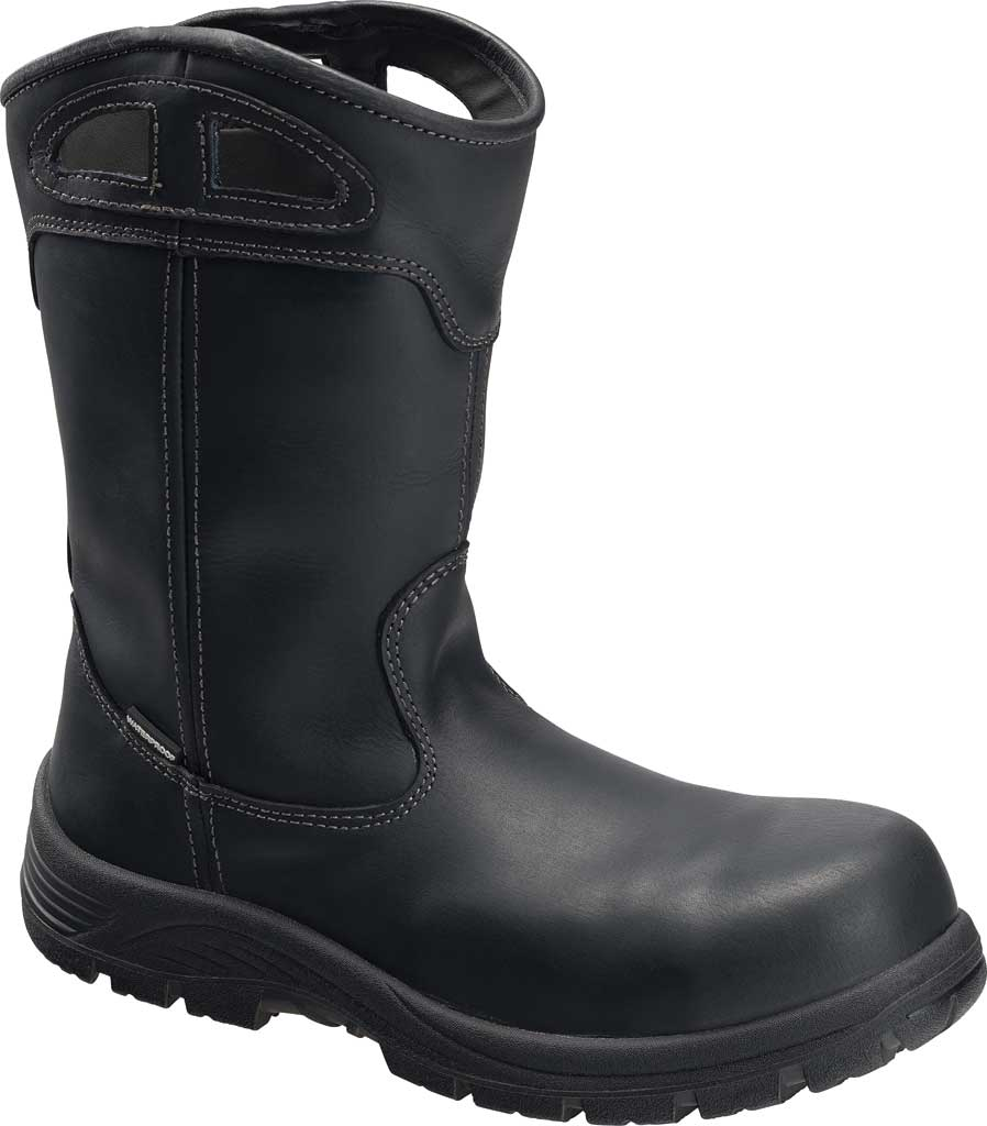 Men's Avenger A7857 Framer Wellington Composite Toe WP Work Boot, Black Full Grain Leather, large, image 1