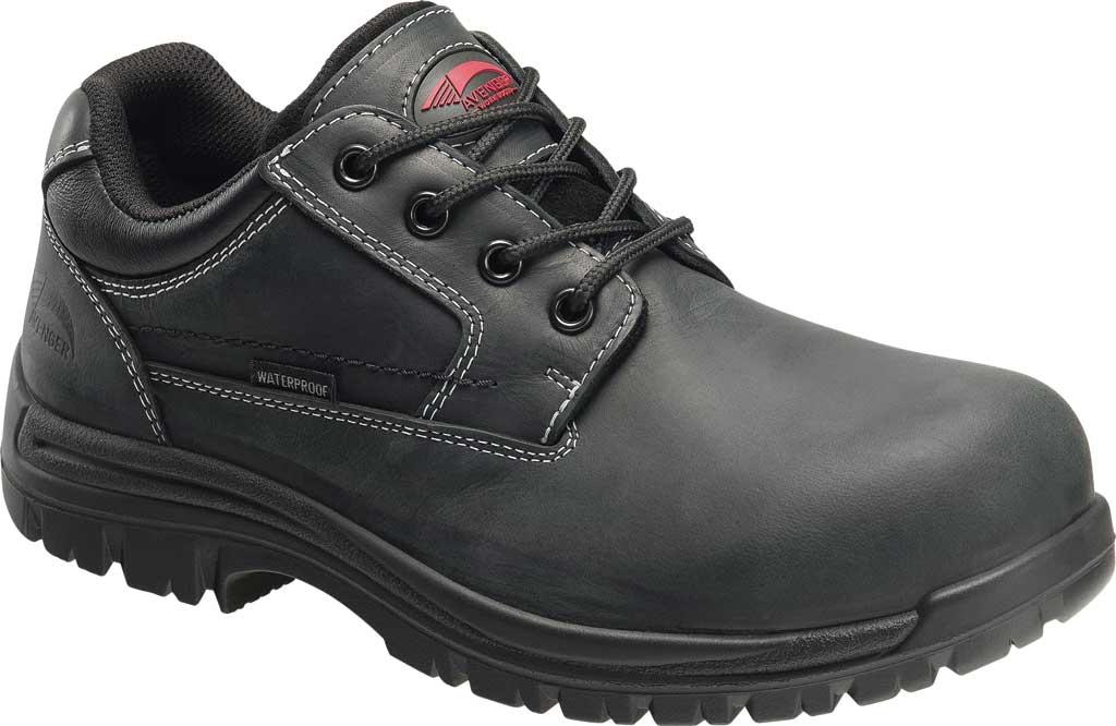 Men's Avenger A7119 Foreman Work Oxford, Black Full Grain Leather, large, image 1