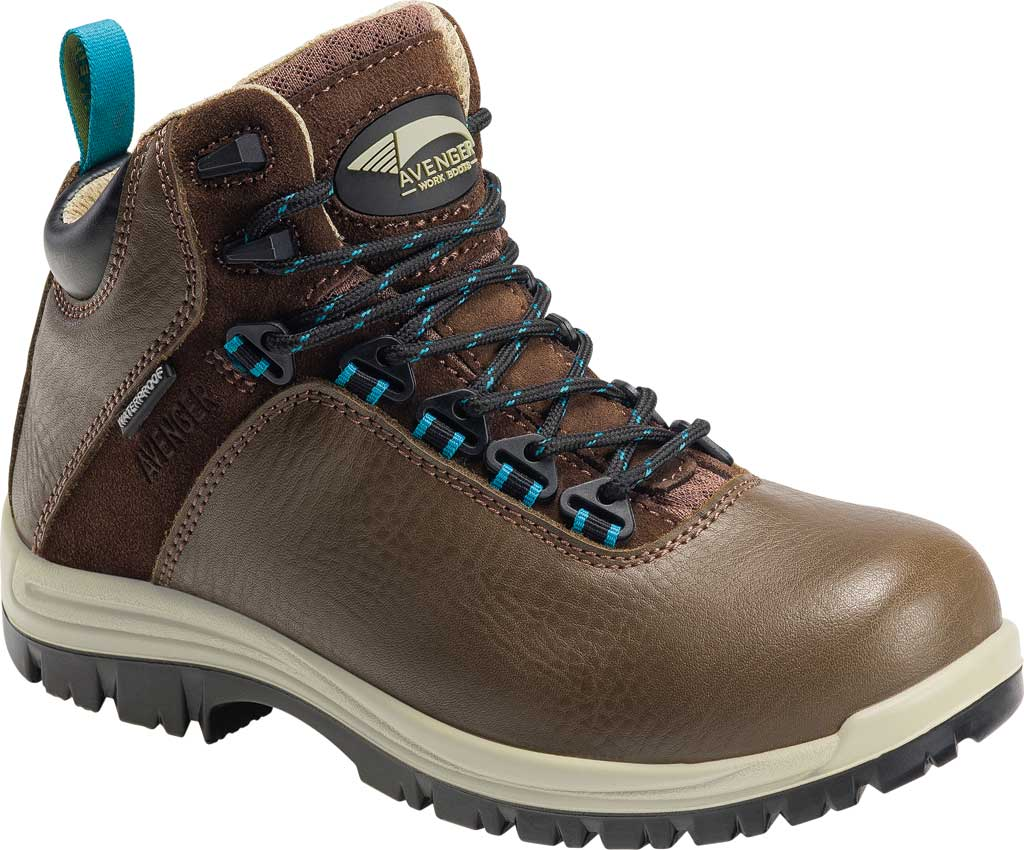"""Women's Avenger A7285 Breaker 6"""" Work Boot, Brown Leather, large, image 1"""