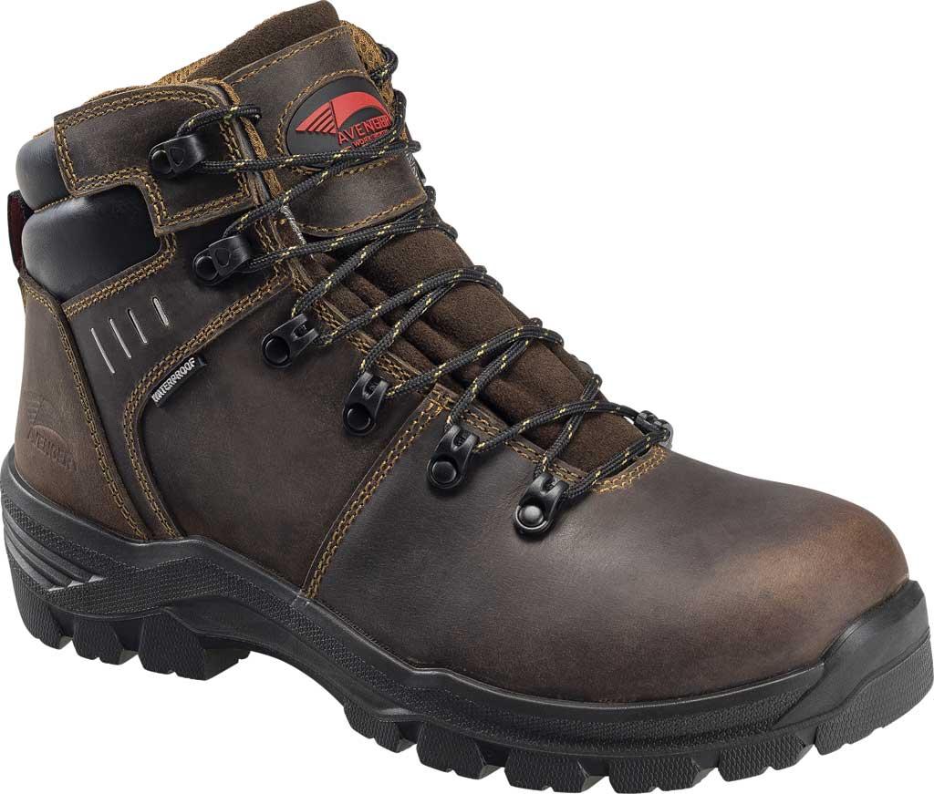 "Men's Avenger A7401 Foundation 6"" Work Boot, Brown Full Grain Leather, large, image 1"