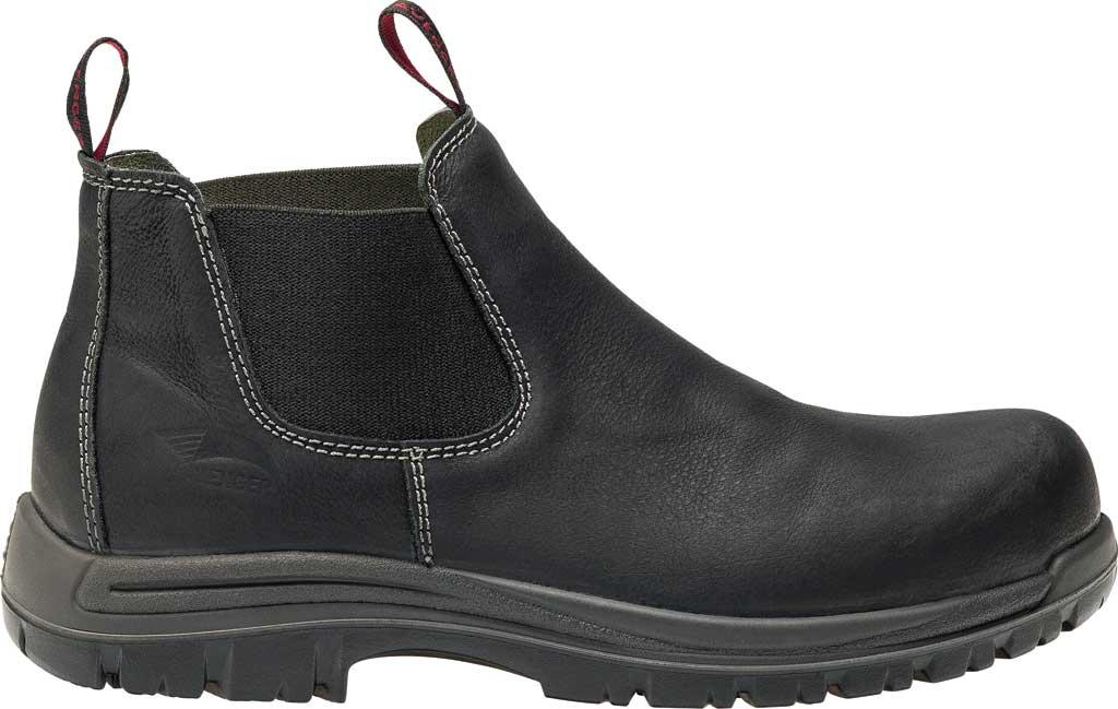 Men's Avenger A7111 Foreman Romeo Pull On Work Boot, Black Full Grain Leather, large, image 2
