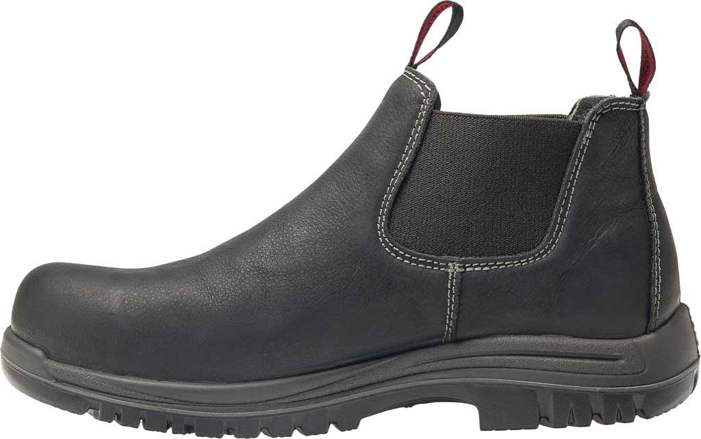 Men's Avenger A7111 Foreman Romeo Pull On Work Boot, Black Full Grain Leather, large, image 3
