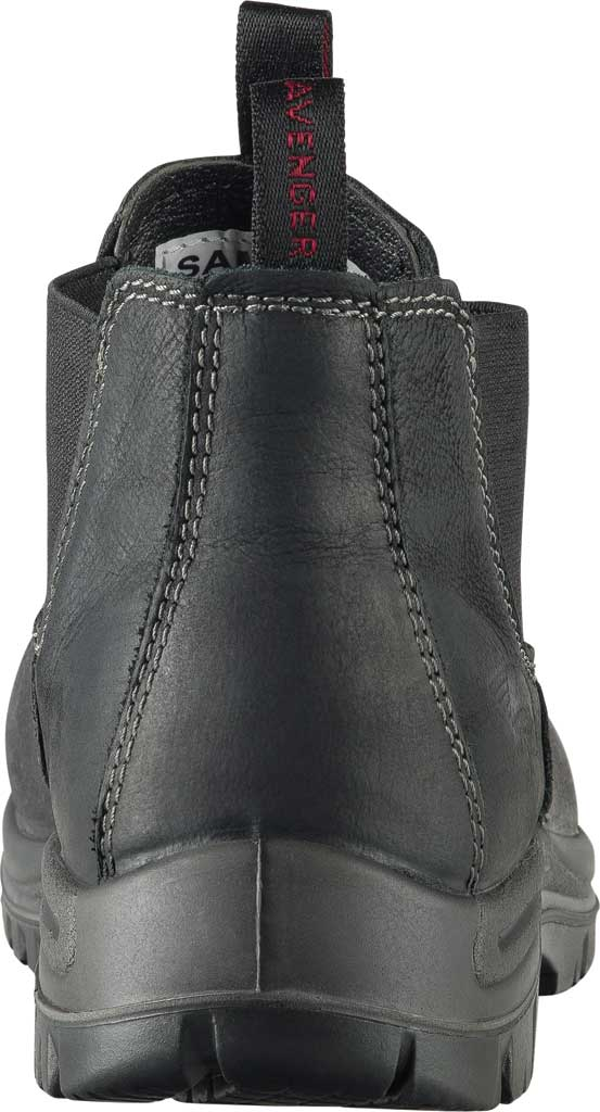 Men's Avenger A7111 Foreman Romeo Pull On Work Boot, Black Full Grain Leather, large, image 4