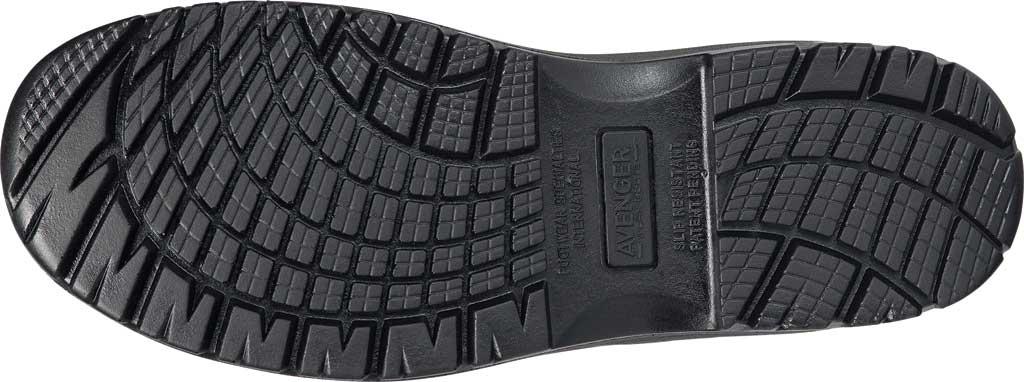 Men's Avenger A7111 Foreman Romeo Pull On Work Boot, Black Full Grain Leather, large, image 6