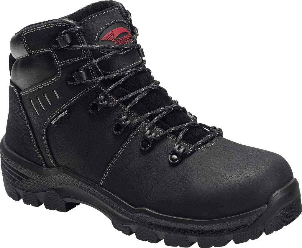 "Men's Avenger A7400 Foundation 6"" Work Boot, Black Full Grain Leather, large, image 1"