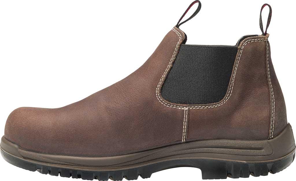Men's Avenger A7110 Foreman Romeo Pull On Work Boot, Brown Full Grain Leather, large, image 3