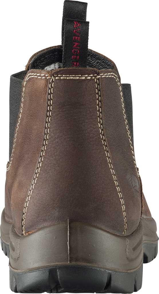 Men's Avenger A7110 Foreman Romeo Pull On Work Boot, Brown Full Grain Leather, large, image 4