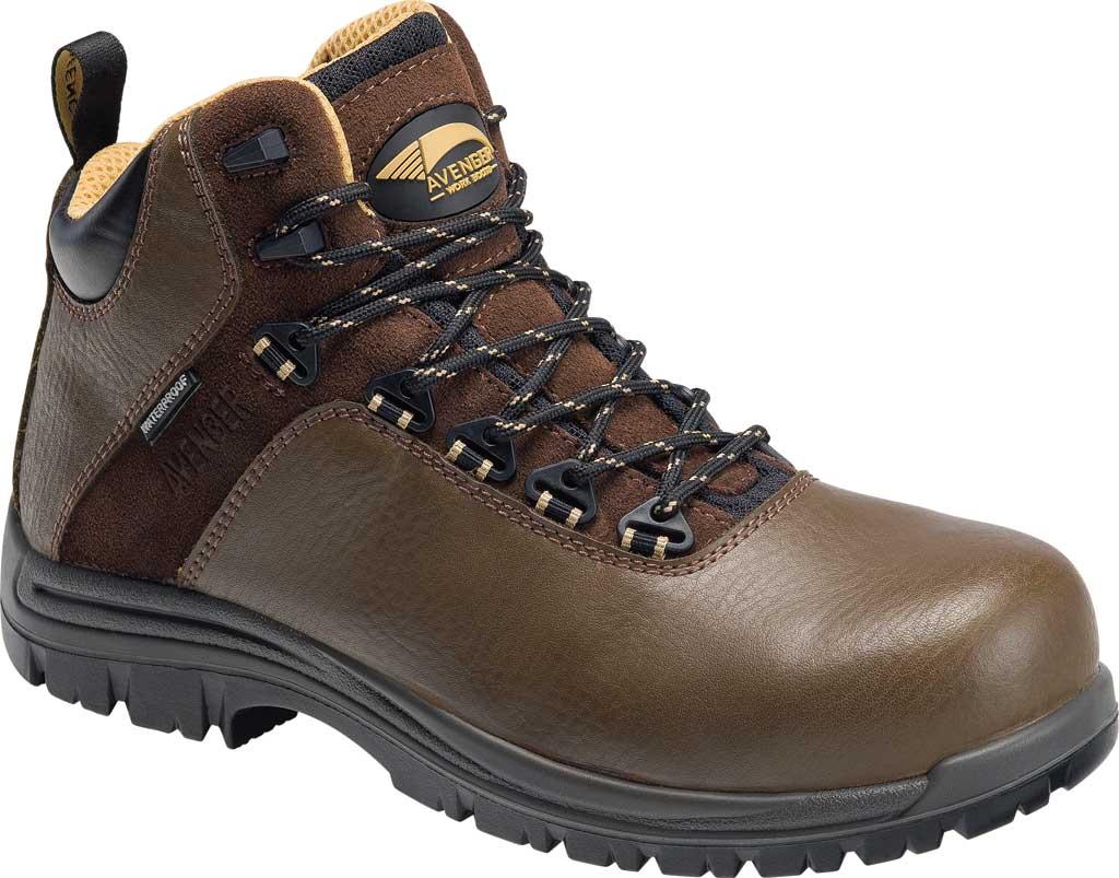 "Men's Avenger A7281 Breaker 6"" Work Boot, Brown Leather, large, image 1"