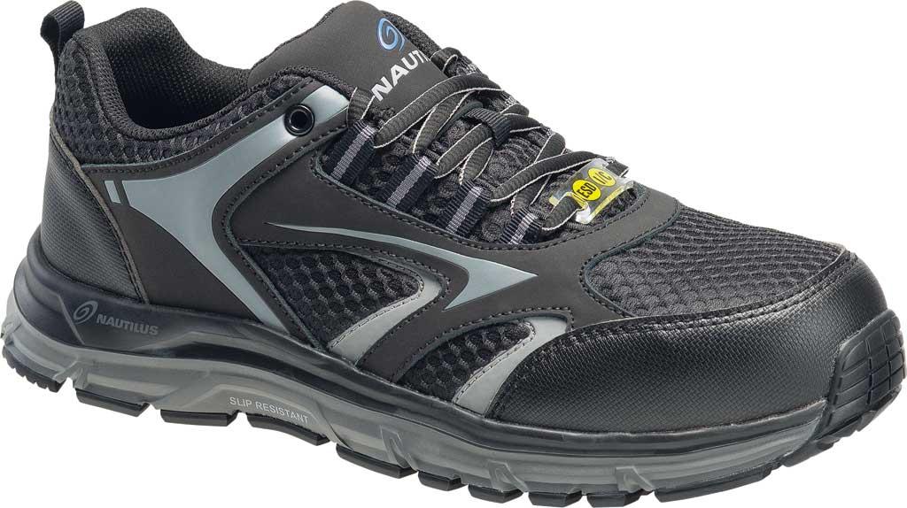 Men's Nautilus N1570 Tempest Low ESD Safety Shoe, Black Mesh/Leather, large, image 1
