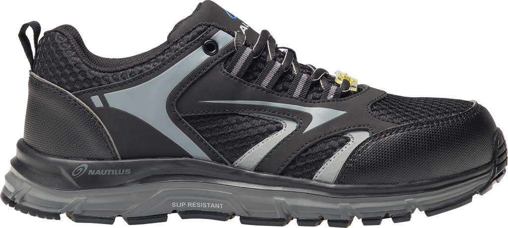 Men's Nautilus N1570 Tempest Low ESD Safety Shoe, Black Mesh/Leather, large, image 2