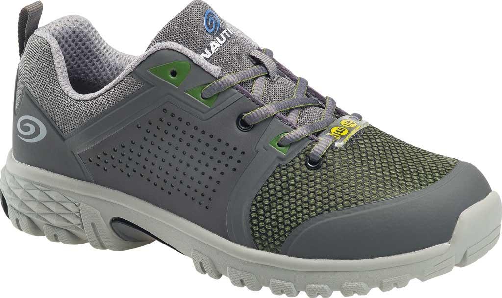 Men's Nautilus N1311 Zephyr ESD Safety Shoe, Grey/Green Textile, large, image 1