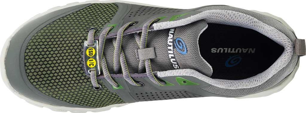 Men's Nautilus N1311 Zephyr ESD Safety Shoe, Grey/Green Textile, large, image 5