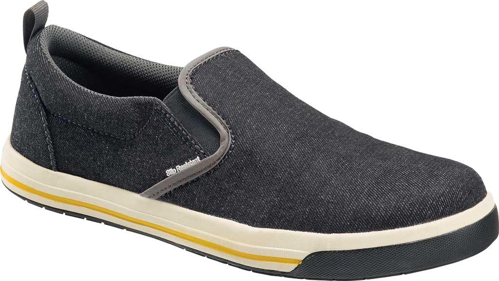 Men's Nautilus N1430 Westside ESD Safety Slip On Shoe, Black Canvas, large, image 1