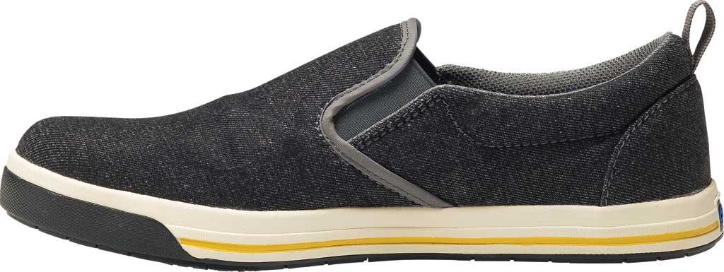 Men's Nautilus N1430 Westside ESD Safety Slip On Shoe, Black Canvas, large, image 3