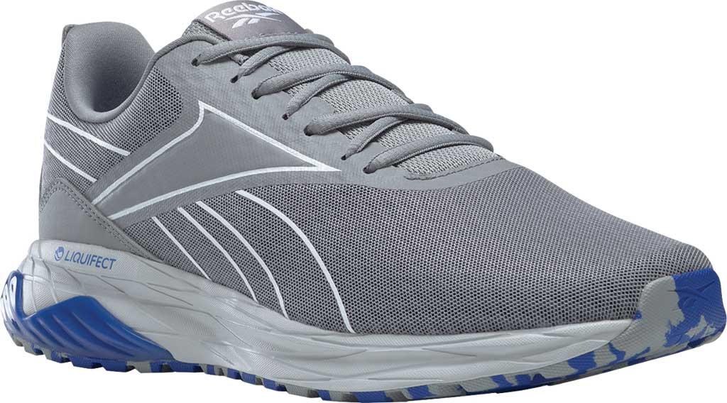 Men's Reebok Liquifect 180 2.0 Running Shoe, Pure Grey/White/Blue, large, image 1