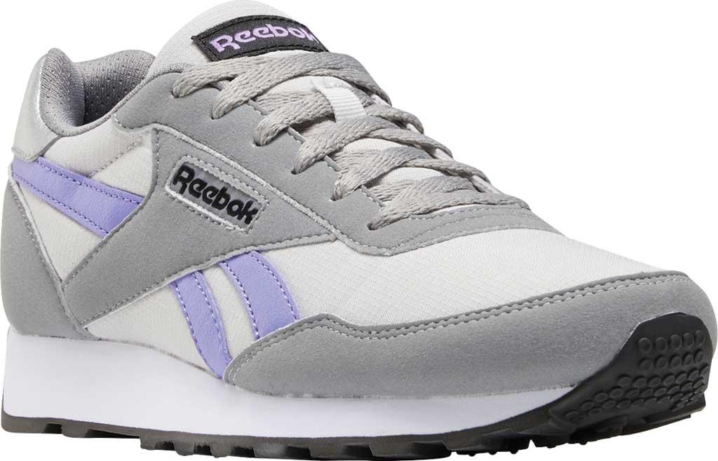 Women's Reebok Rewind Running Sneaker, Pure Grey 2/Hyper Purple/Pure Grey 5, large, image 1