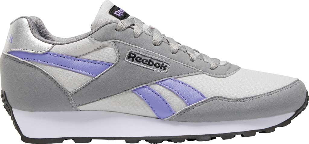 Women's Reebok Rewind Running Sneaker, Pure Grey 2/Hyper Purple/Pure Grey 5, large, image 2