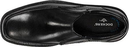 Men's Dockers Edson Slip On, Black Polished Full Grain, large, image 4