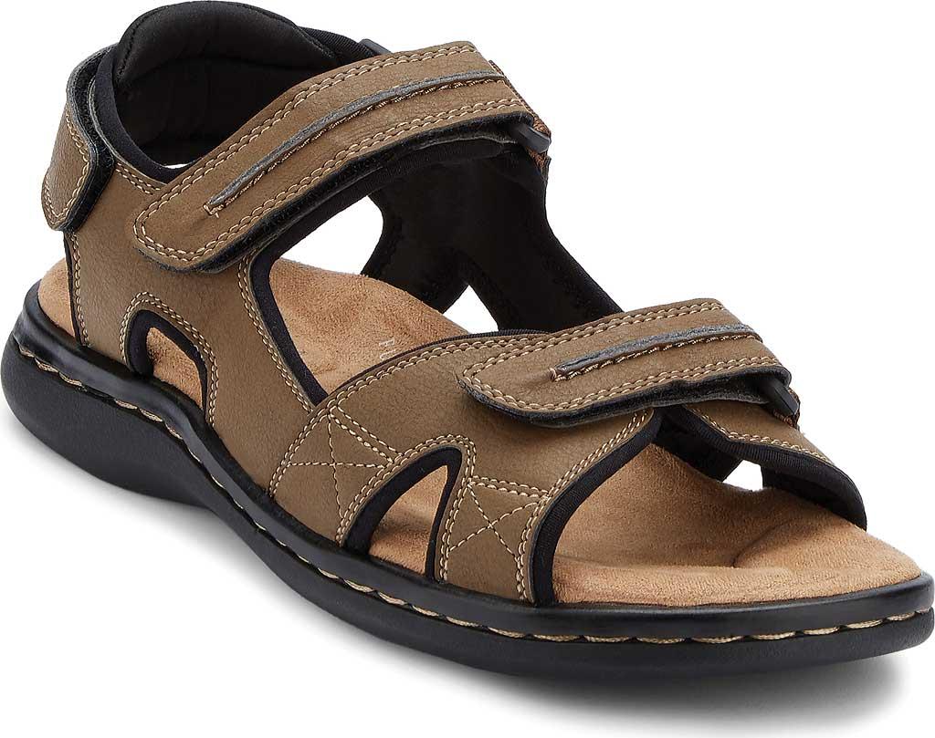 Men's Dockers Newpage Sport Sandal, Dark Tan, large, image 1