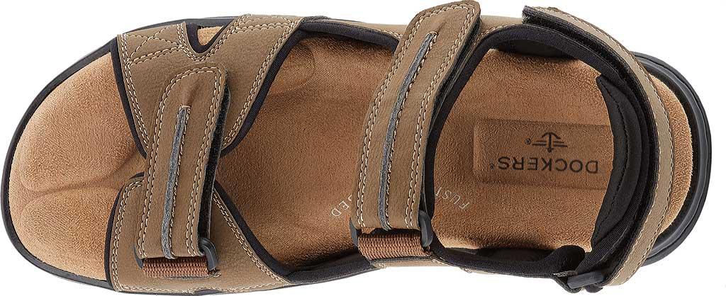 Men's Dockers Newpage Sport Sandal, Dark Tan, large, image 5