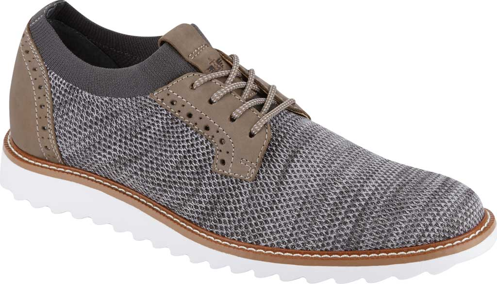 Men's Dockers Feinstein Sneaker, Grey Marbled Knit/Nubuck, large, image 1