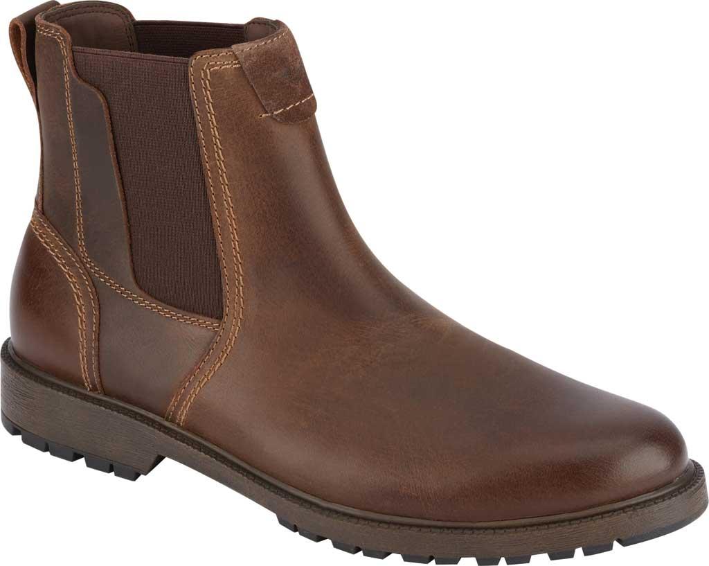 Men's Dockers Sanders Waterproof Chelsea Boot, Brown Full Grain Leather, large, image 1