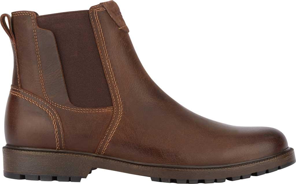 Men's Dockers Sanders Waterproof Chelsea Boot, Brown Full Grain Leather, large, image 2