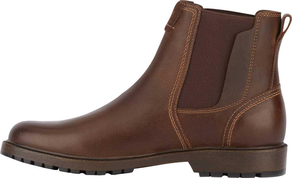 Men's Dockers Sanders Waterproof Chelsea Boot, Brown Full Grain Leather, large, image 3