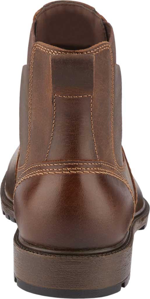 Men's Dockers Sanders Waterproof Chelsea Boot, Brown Full Grain Leather, large, image 4