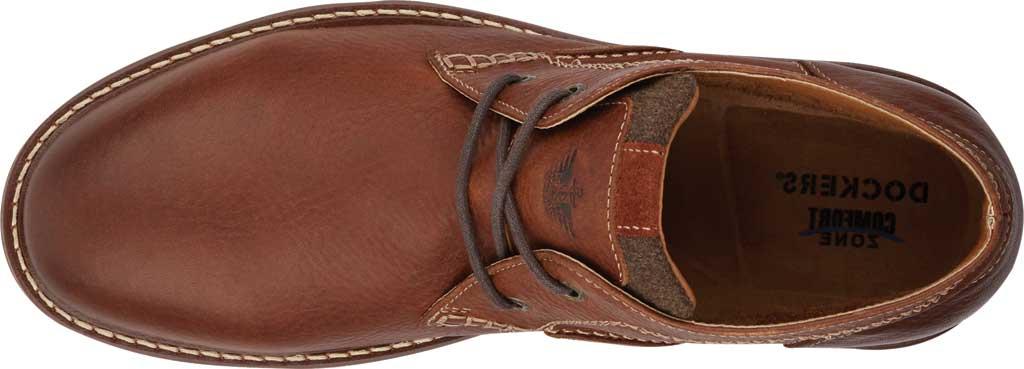 Men's Dockers Greyson Chukka Boot, Cognac Full Grain Leather, large, image 5