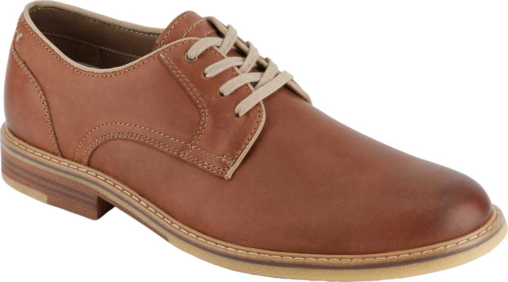 Men's Dockers Martin Plain Toe Oxford, Tan Full Grain Leather, large, image 1