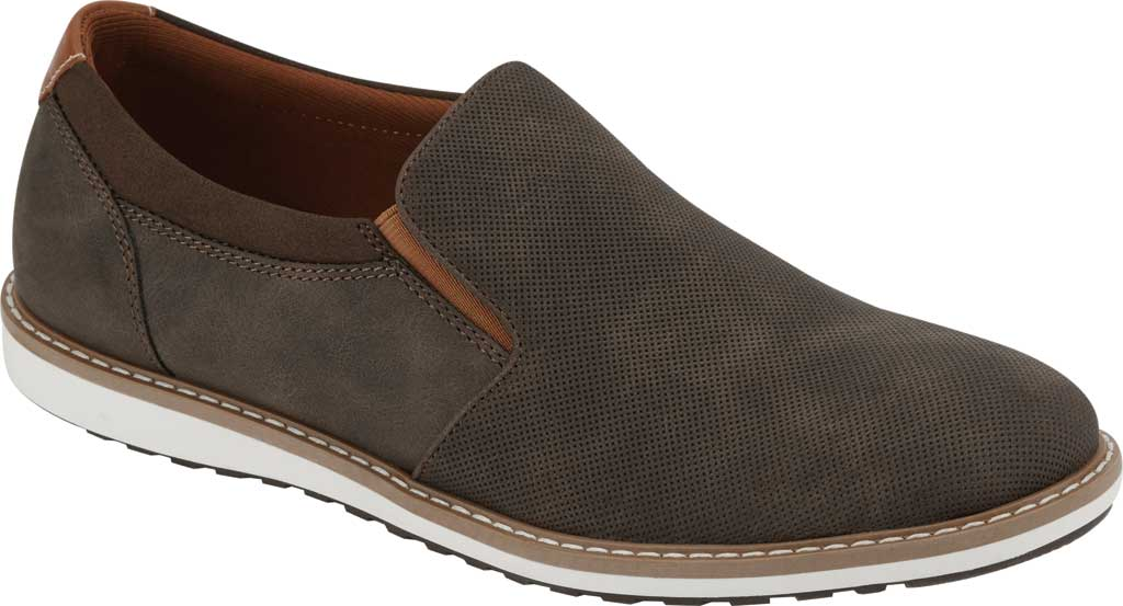 Men's Dockers Bryant Slip On, Brown Distressed Synthetic, large, image 1
