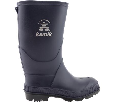 Children's Kamik Stomp Rainboot, Navy/Black Sole, large, image 2