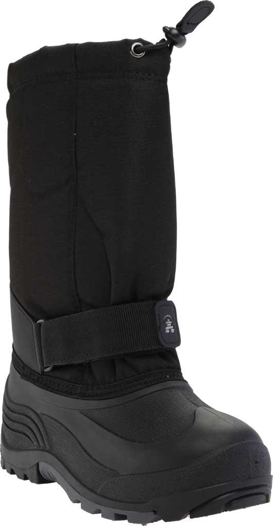 Children's Kamik Rocket Pull On Boot, Black Waterproof 600 Denier Nylon/Synthetic Nubuck, large, image 1