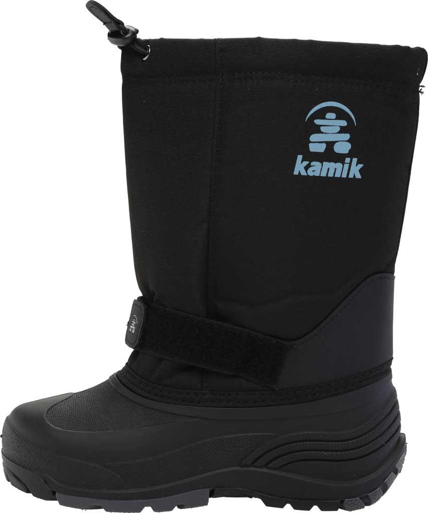 Children's Kamik Rocket Pull On Boot, Black Waterproof 600 Denier Nylon/Synthetic Nubuck, large, image 3