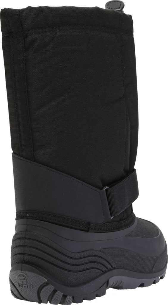 Children's Kamik Rocket Pull On Boot, Black Waterproof 600 Denier Nylon/Synthetic Nubuck, large, image 4