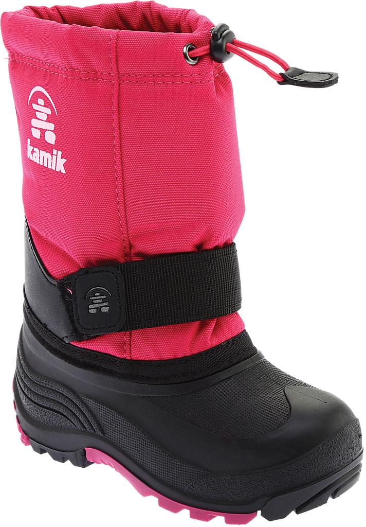 Children's Kamik Rocket Pull On Boot, Rose Waterproof 600 Denier Nylon/Synthetic Nubuck, large, image 1