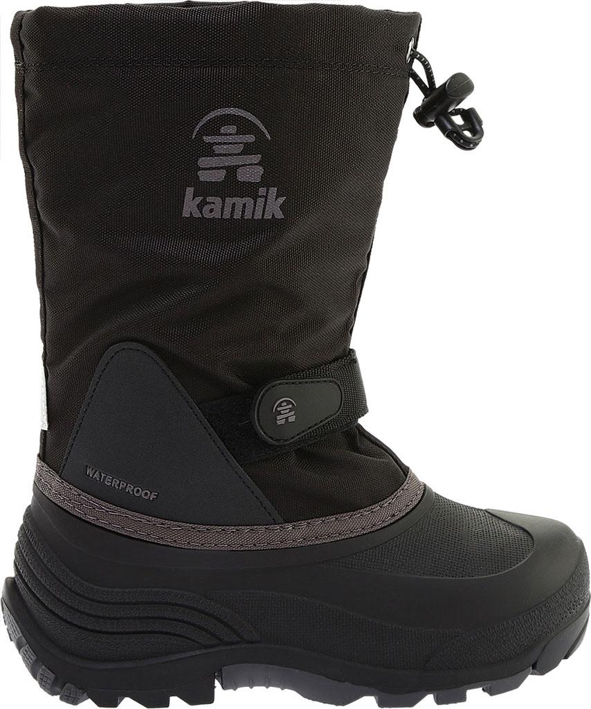 Boys' Kamik Waterbug5 Boot, Black/Charcoal Waterproof 600 Denier Nylon, large, image 2