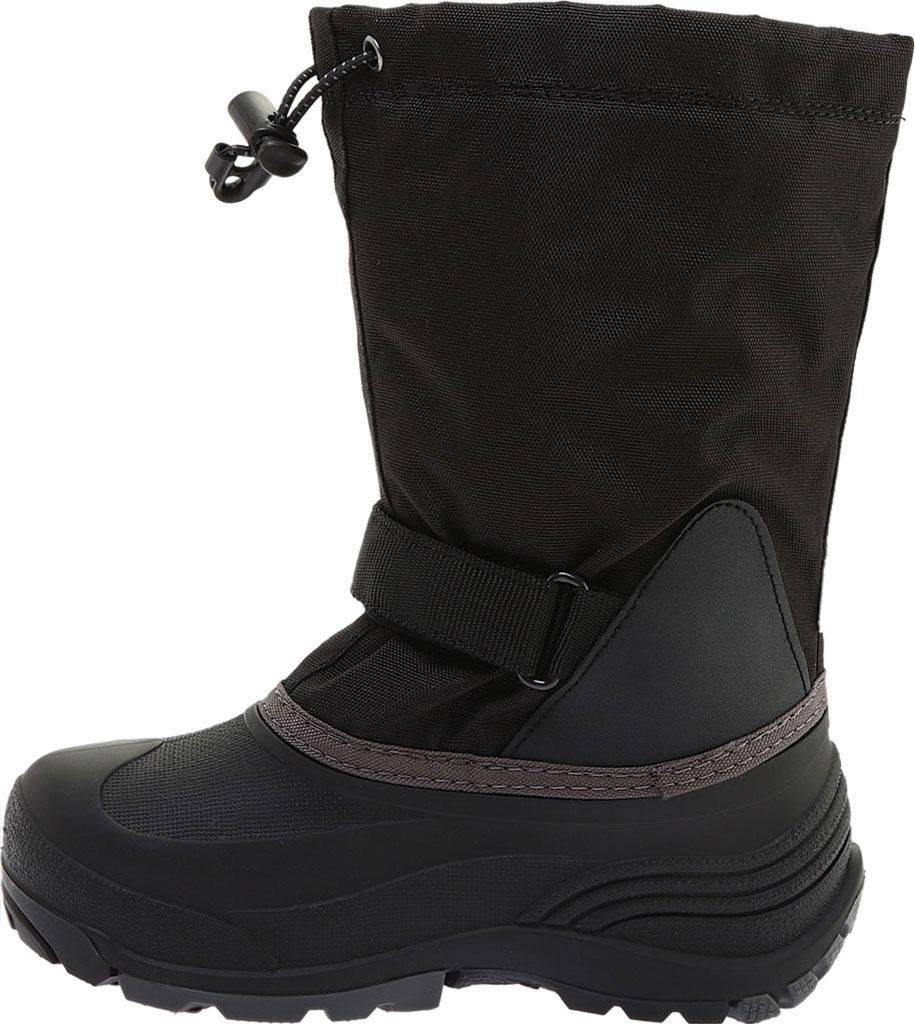 Boys' Kamik Waterbug5 Boot, Black/Charcoal Waterproof 600 Denier Nylon, large, image 3