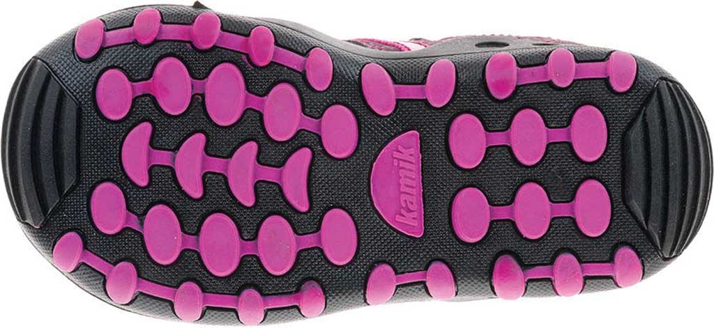 Infant Kamik Crab Closed Toe Sandal, Plum Synthetic Leather, large, image 3