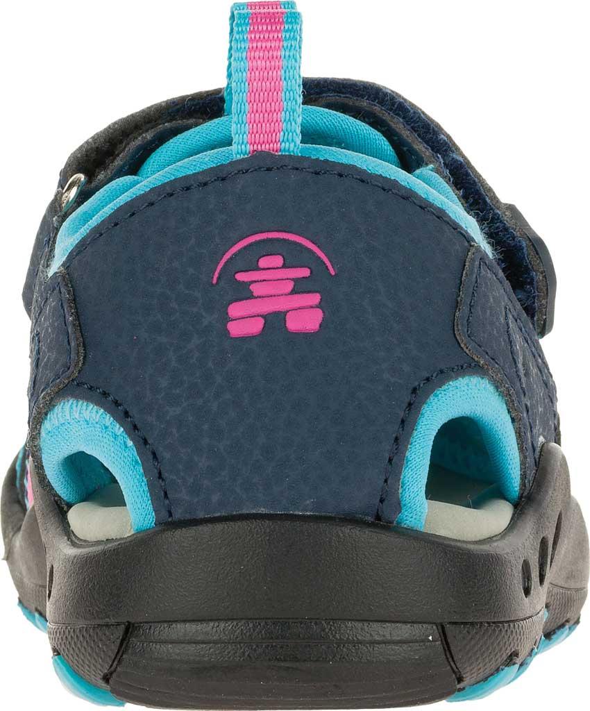 Infant Kamik Crab Closed Toe Sandal, Plum Synthetic Leather, large, image 4