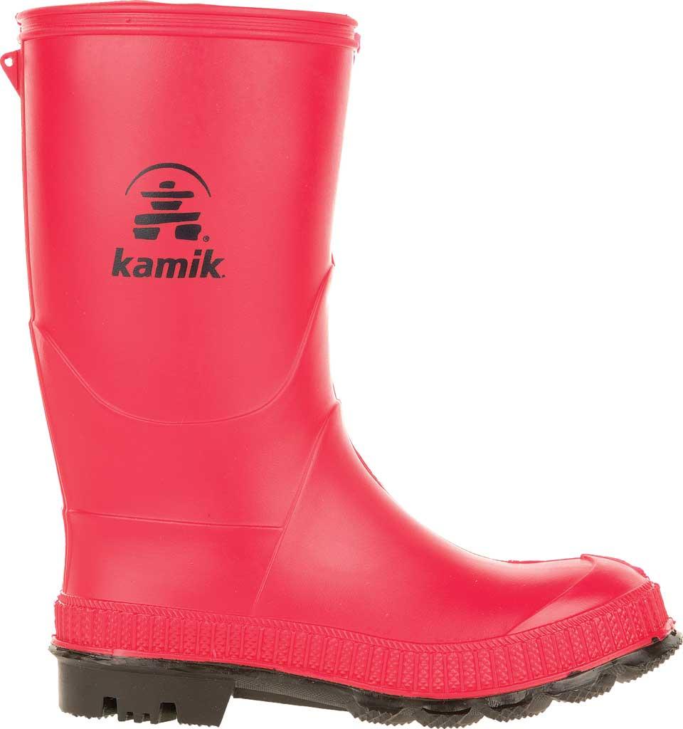 Infant Kamik Stomp Rain Boot, Red Rubber, large, image 2